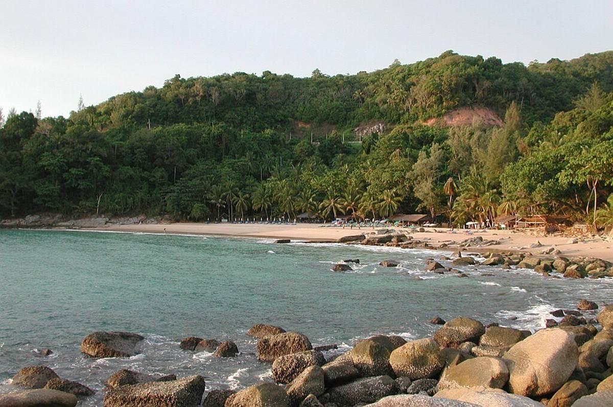 Laem Singh Beach   view from the ocean