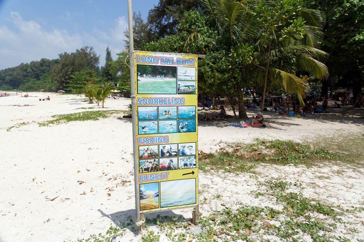 Nai Yang Beach | billboard with the available boat trips
