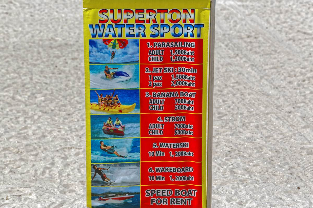 Patong Beach   Rates Watersport Activities