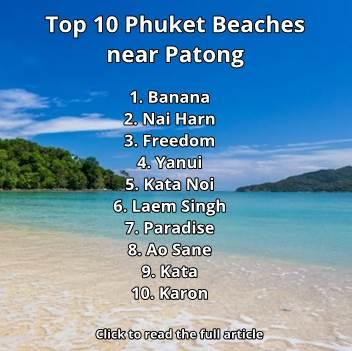 Top 10 Phuket Beaches near Patong