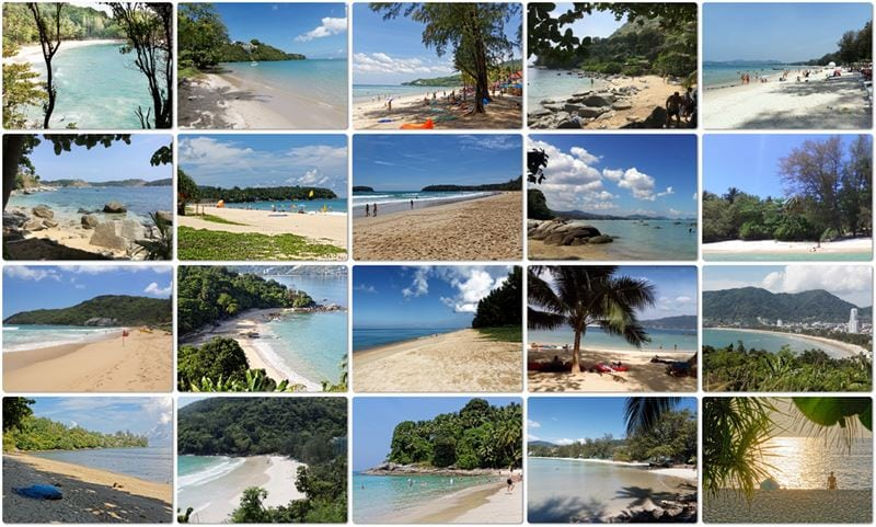 Picture Composition of Phuket Beaches