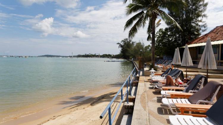 Chalong Bay   Beach Phuket. In front of Ao Chalong Villa & Spa