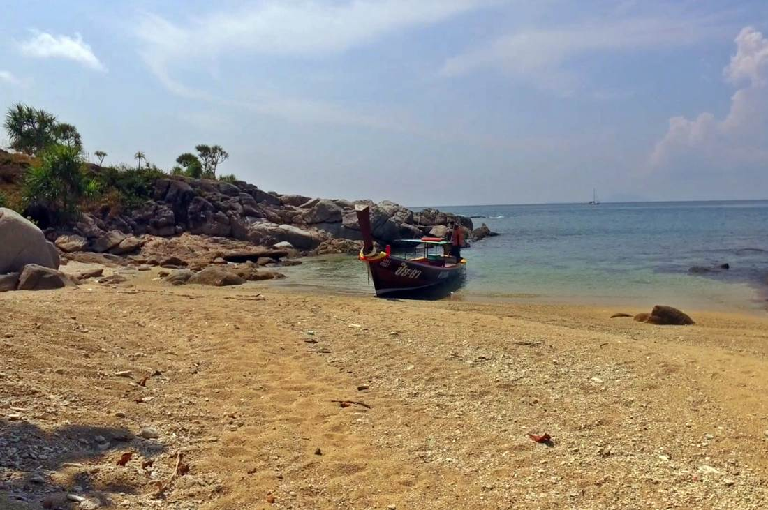 View of a Fisher Boat on Koh Bon Island Beach