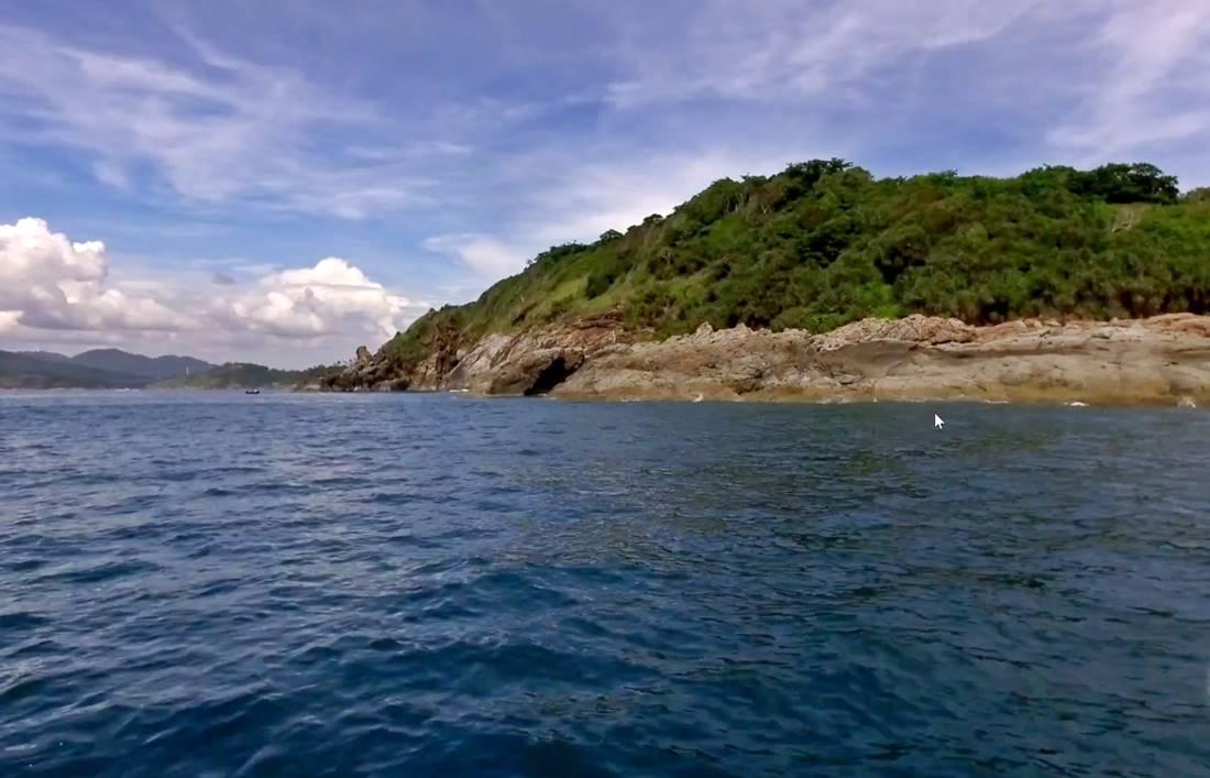 View from the sea of Koh Kaeo Yai Island