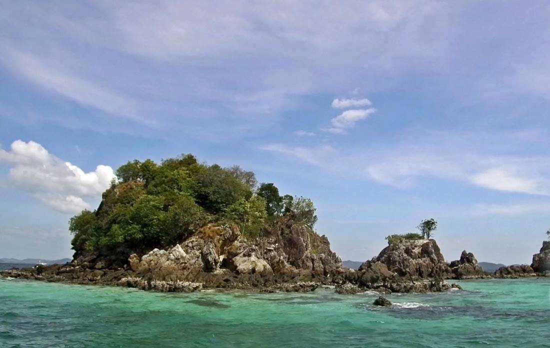 View of Koh Khai Nai Island from the sea