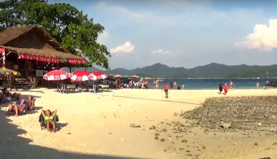 View of the beach area on Koh Khai Nok Island