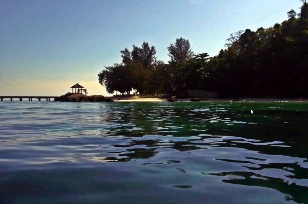 View from the sea of Koh Maiton Island beach