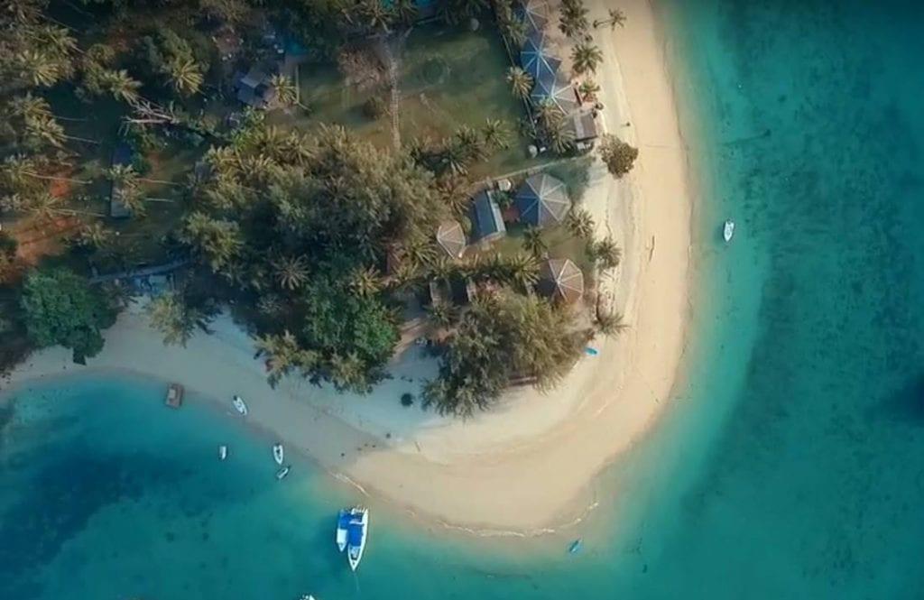 Aerial view of Koh Naka Noi Island Beach