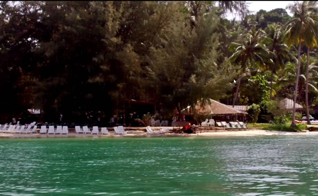 View from the sea of Koh Naka Noi Island Beach