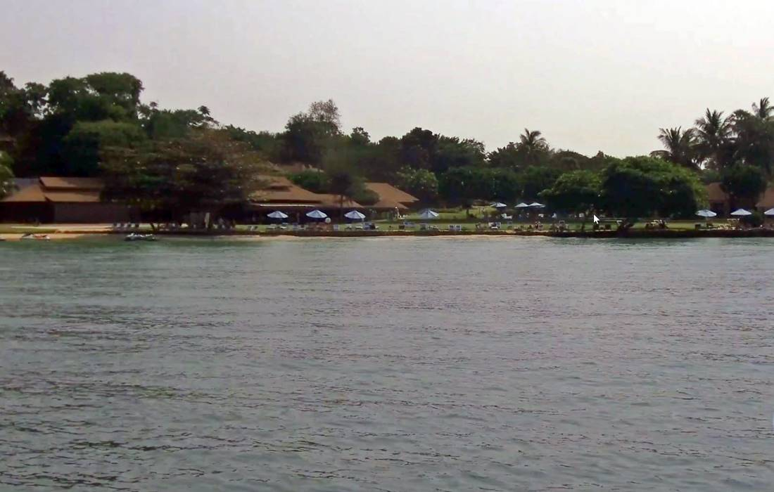 View of one of the Koh Naka Yai Island Beach from the sea