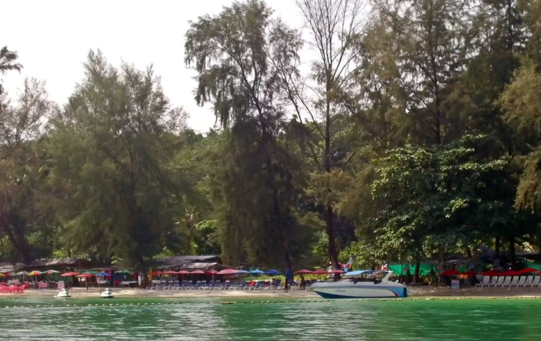 View from the sea of one of the Koh Naka Yai Island Beach