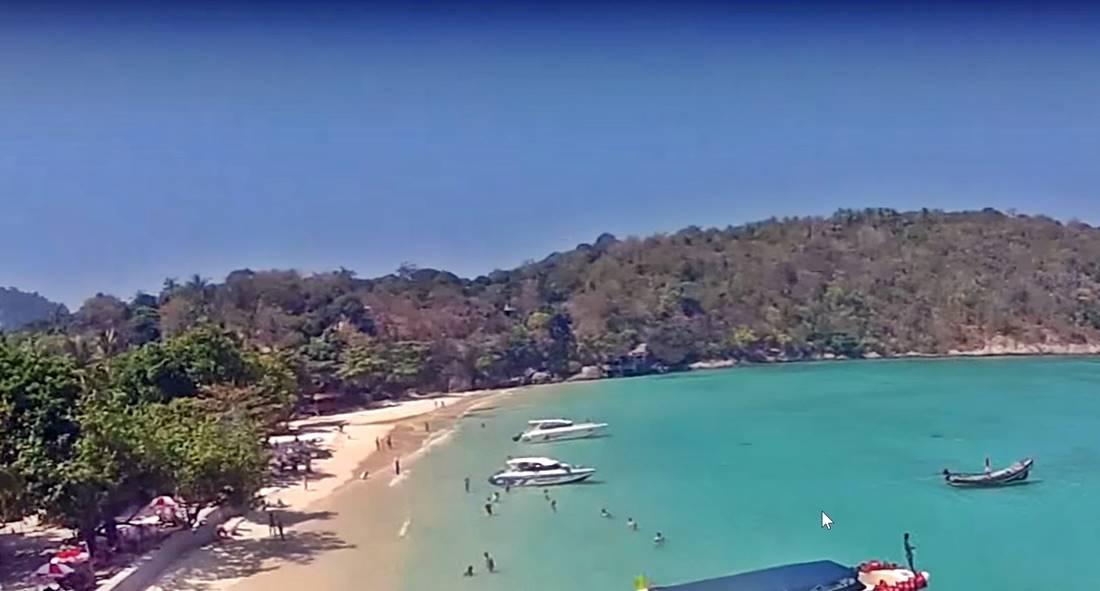 Koh Racha Yai Island Siam Bay Beach aerial view