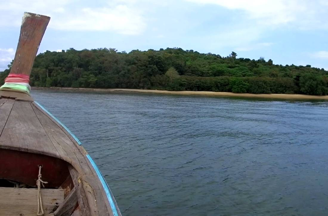 View from the sea of one of Koh Raet Island Beach
