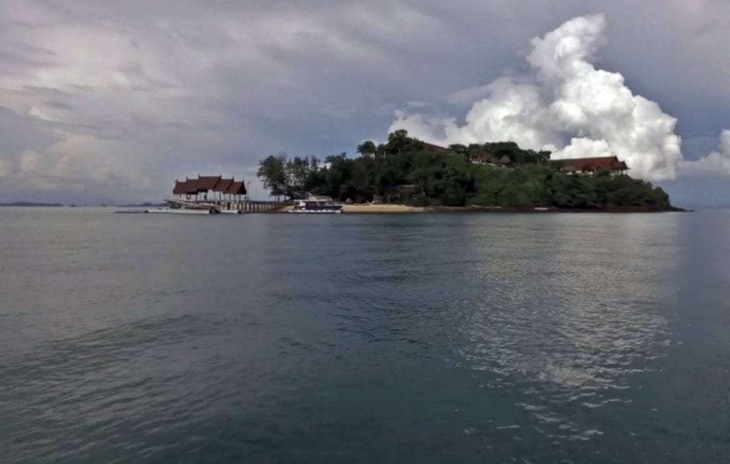 View from the sea of Koh Rang Noi Island Beach