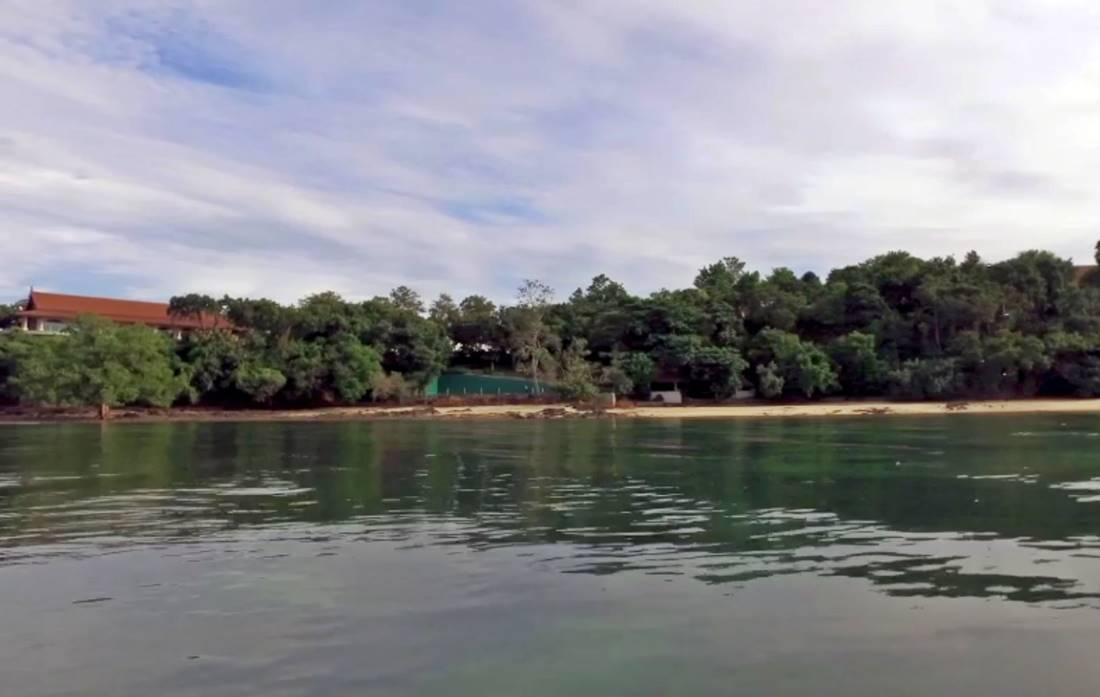 View of Koh Rang Noi Island Beach from the sea