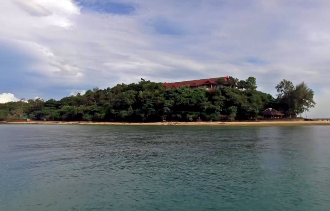 View from the boat of Koh Rang Noi Island Beach