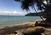 View of the sea from Koh Sire Island Beach