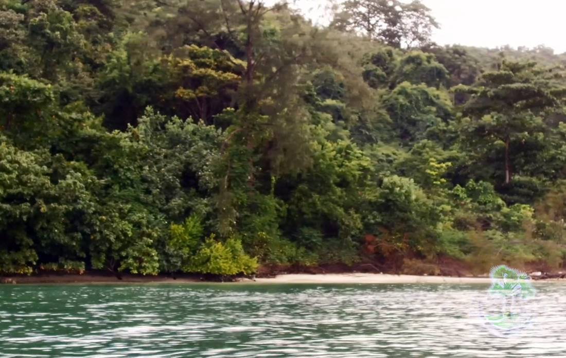 View from the sea of Koh Tapao Noi Island Beach