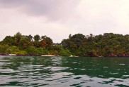 View of Koh Tapao Noi Island Beach from the sea