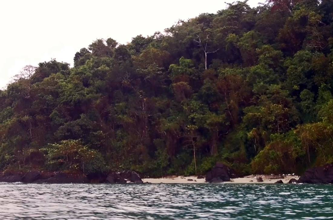 View from the sea of a Koh Tapao Noi Island beach