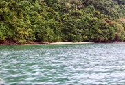 View from the sea of Koh Tapao Yai Island Beach