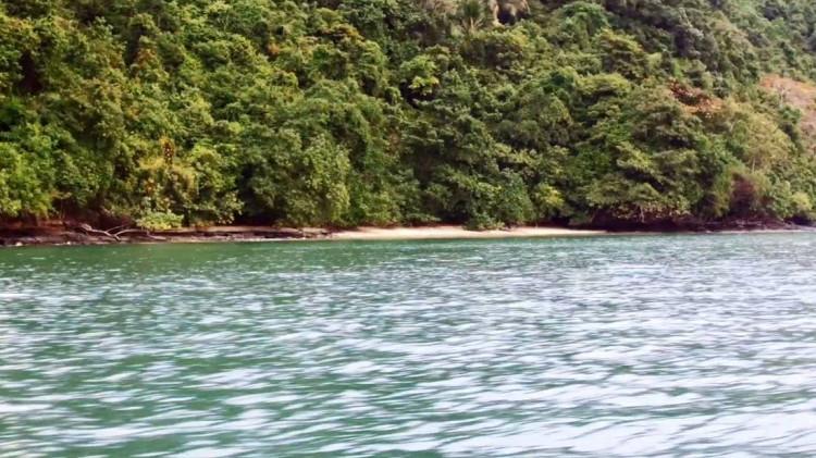 View from the sea of Koh Tapao Yai Island Beach