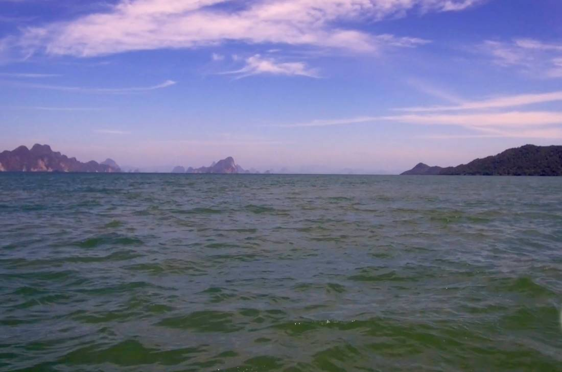 View from the sea of Koh Yao Noi Island