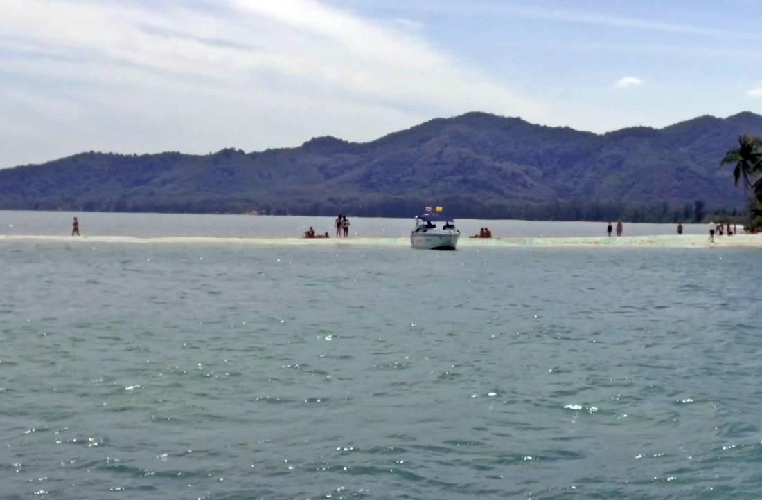 View from the sea of Koh Yao Yai Island Beach