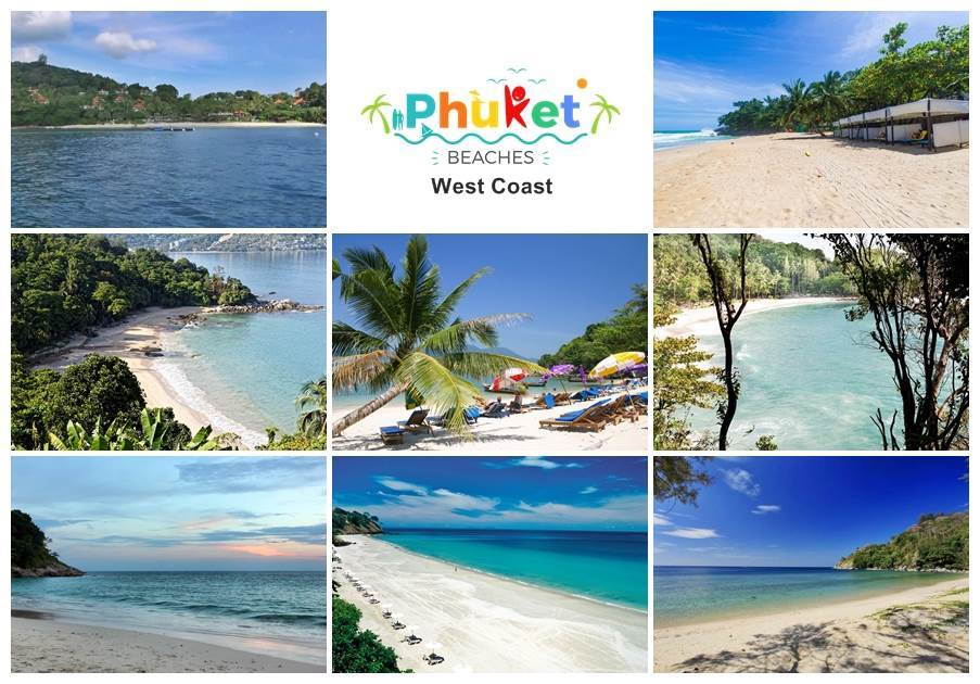 picture composing of the best phuket beaches on the west coast
